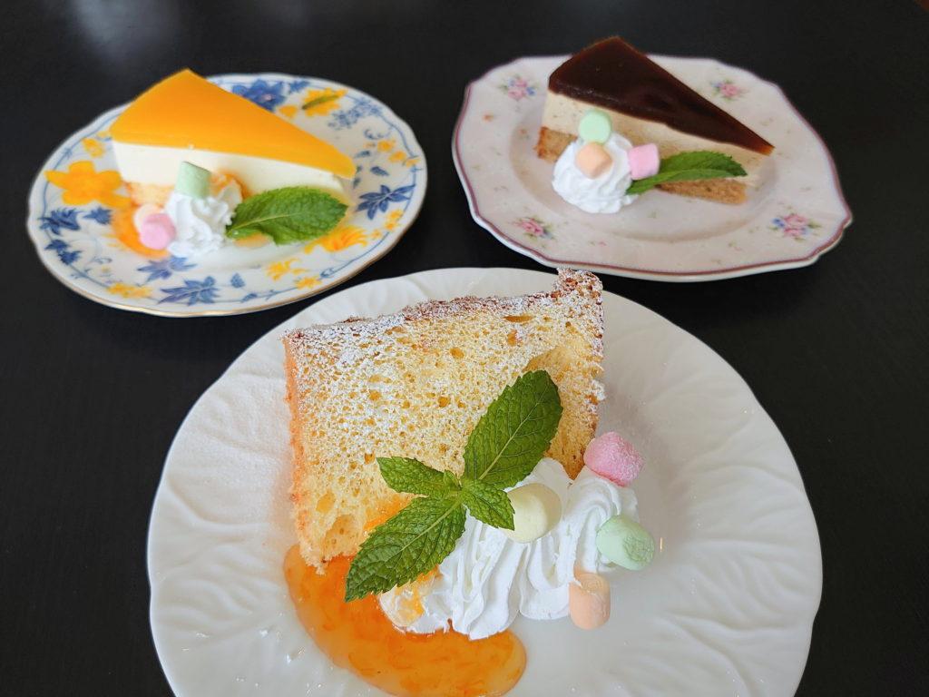 唐木田のカフェ、カフェ・ド・スールのケーキセット